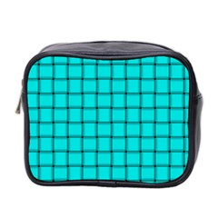 Cyan Weave Mini Travel Toiletry Bag (Two Sides)