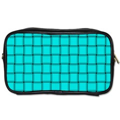 Cyan Weave Travel Toiletry Bag (two Sides)