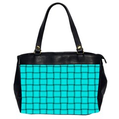 Cyan Weave Oversize Office Handbag (two Sides)