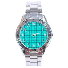 Cyan Weave Stainless Steel Watch (Men s)