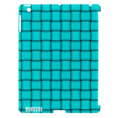 Cyan Weave Apple iPad 3/4 Hardshell Case (Compatible with Smart Cover)