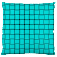 Cyan Weave Large Cushion Case (One Side)
