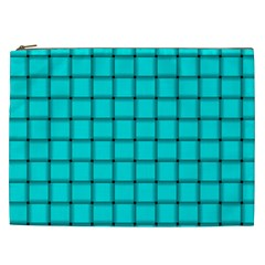 Cyan Weave Cosmetic Bag (XXL)