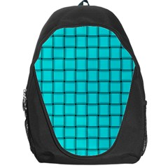 Cyan Weave Backpack Bag
