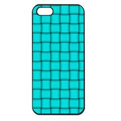 Cyan Weave Apple iPhone 5 Seamless Case (Black)