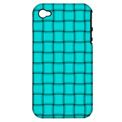 Cyan Weave Apple iPhone 4/4S Hardshell Case (PC+Silicone)