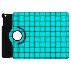 Cyan Weave Apple iPad Mini Flip 360 Case