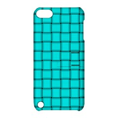 Cyan Weave Apple iPod Touch 5 Hardshell Case with Stand
