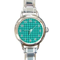 Turquoise Weave Round Italian Charm Watch