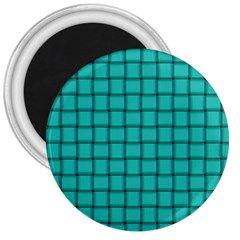 Turquoise Weave 3  Button Magnet