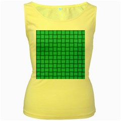 Turquoise Weave Womens  Tank Top (Yellow)