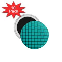 Turquoise Weave 1 75  Button Magnet (10 Pack)