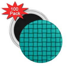 Turquoise Weave 2.25  Button Magnet (100 pack)