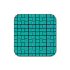 Turquoise Weave Drink Coaster (square)
