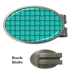 Turquoise Weave Money Clip (oval)