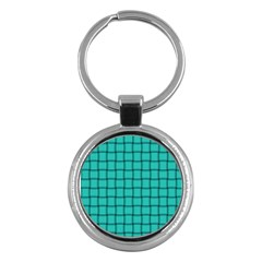Turquoise Weave Key Chain (round)