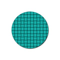 Turquoise Weave Drink Coasters 4 Pack (Round)