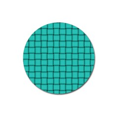 Turquoise Weave Magnet 3  (round)