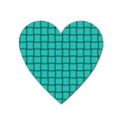 Turquoise Weave Magnet (Heart)