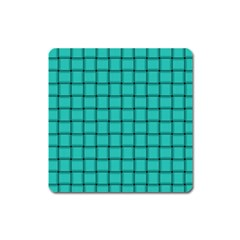 Turquoise Weave Magnet (square)
