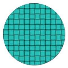Turquoise Weave Magnet 5  (Round)