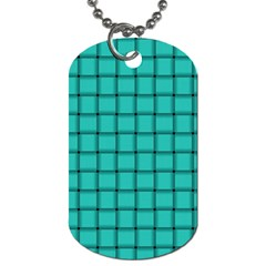 Turquoise Weave Dog Tag (one Sided)