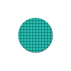 Turquoise Weave Golf Ball Marker