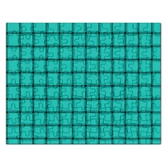 Turquoise Weave Jigsaw Puzzle (Rectangle)
