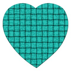 Turquoise Weave Jigsaw Puzzle (Heart)