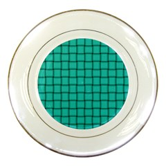 Turquoise Weave Porcelain Display Plate