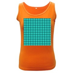 Turquoise Weave Womens  Tank Top (dark Colored)