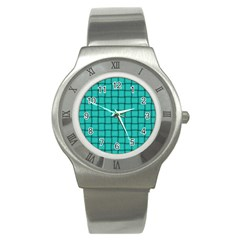 Turquoise Weave Stainless Steel Watch (Unisex)
