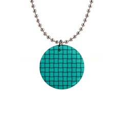 Turquoise Weave Button Necklace