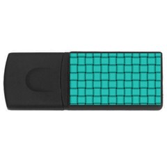 Turquoise Weave 4gb Usb Flash Drive (rectangle)