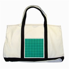 Turquoise Weave Two Toned Tote Bag