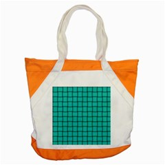 Turquoise Weave Accent Tote Bag