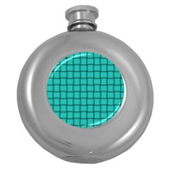 Turquoise Weave Hip Flask (round)