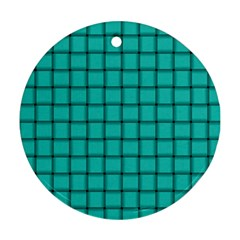 Turquoise Weave Round Ornament (Two Sides)