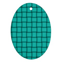 Turquoise Weave Oval Ornament (two Sides)