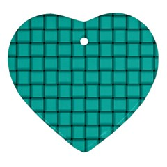 Turquoise Weave Heart Ornament (Two Sides)