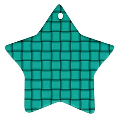 Turquoise Weave Star Ornament (Two Sides)