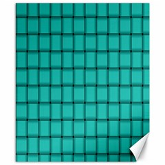 Turquoise Weave Canvas 8  x 10  (Unframed)