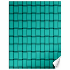 Turquoise Weave Canvas 12  x 16  (Unframed)