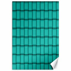 Turquoise Weave Canvas 12  x 18  (Unframed)