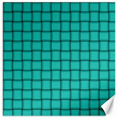 Turquoise Weave Canvas 16  x 16  (Unframed)