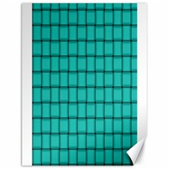 Turquoise Weave Canvas 18  X 24  (unframed)