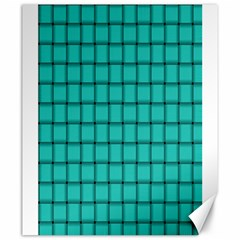 Turquoise Weave Canvas 20  x 24  (Unframed)