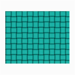 Turquoise Weave Glasses Cloth (Small, Two Sided)