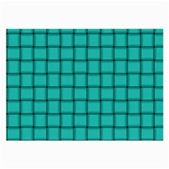 Turquoise Weave Glasses Cloth (Large, Two Sided)