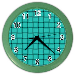 Turquoise Weave Wall Clock (Color)